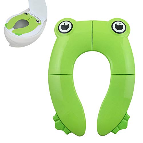 DingLong Faltbare Toilettensitze f/ür Kinder//Baby Klappbar Frosch Cartoon WC Sitz,Verstellbarer Trainingsstuhl Rosa Tragbarer Rutschfest