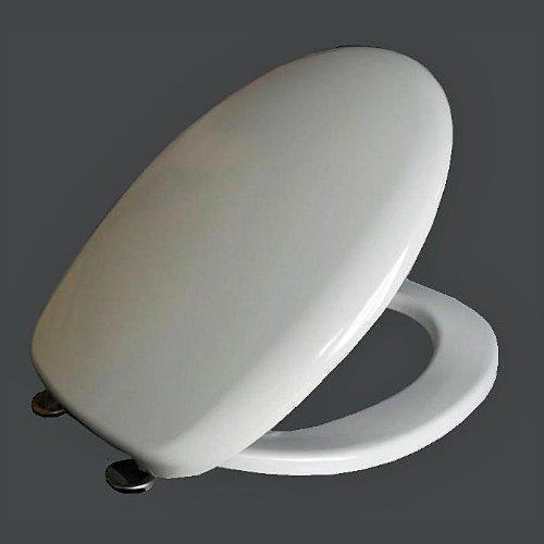 Hochwertiger Designer WC Sitz-WC Deckel -Easy Click Funktion - Toilettensitz mit Absekautomatik - Slim weiss-CPDi DESIGN