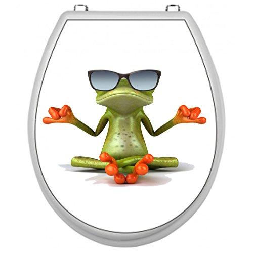 Toilettensitz-WC Aufkleber Motiv: Frosch