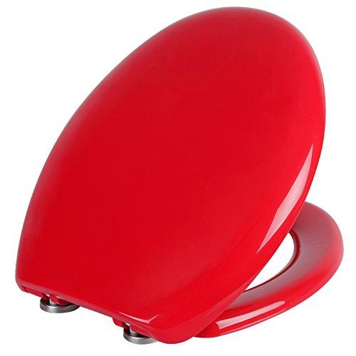 WOLTU WS2637 Premium WC-Sitz mit Absenkautomatik, Fast Fix, Softclose, Antibakteriell, Neu&Ovp (WS2637 Rot)