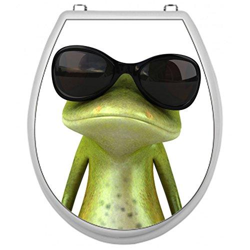 Aufkleber für Toilettensitz Klodeckel Aufkleber WC Sitz Aufkleber - Motiv Frosch
