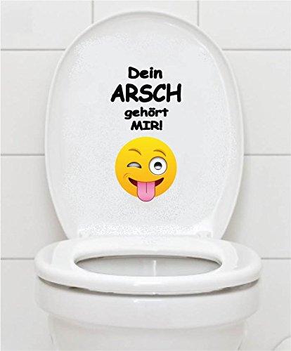 WC Aufkleber - DEIN ARSCH GEHÖRT MIR - Smiley Toilettendeckel A070