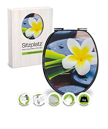WC-Sitz Dekor Spa Flower mit Soft-Schließ-Komfort und Fast Fix