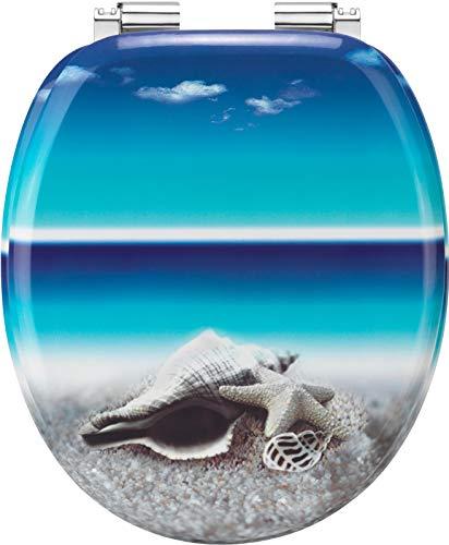 "Cornat WC-Sitz ""Snail Blue"" - Ansprechendes Design - Hochwertiger Holzkern - Absenkautomatik - Komfortables Sitzgefühl / Toilettensitz / Klodeckel / KSDSC534"