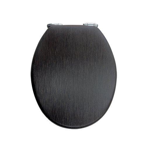Exclusiver Designer WC DECKEL-Toilettendeckel-Wenge dunkelbrau Rustikal OPTIK -MDF -Maße:43.5x37,3cm AWD02181098