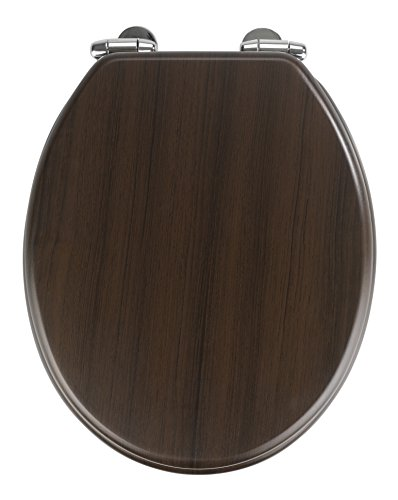 Wenko WC MDF Oak wenge Tapa caida lenta, Dunkelbraun 43 x 37 x 6 cm