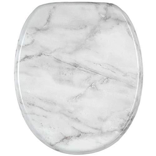 Sanilo WC Sitz mit Absenkautomatik Marmor | hochwertige Oberfläche | einfache Montage | stabile Scharniere   A961745