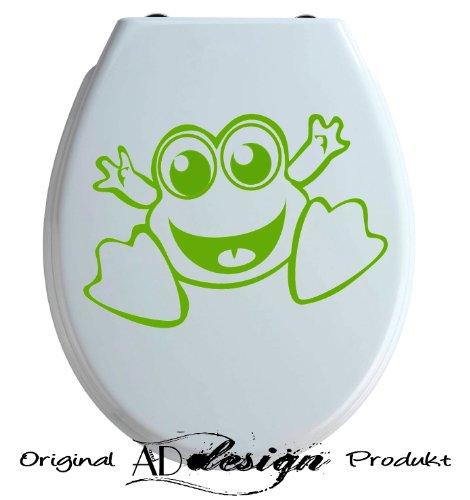 TREND DESIGN - Aufkleber für WC Toiletten Deckel ***little frog*** freie Farbauswahl!