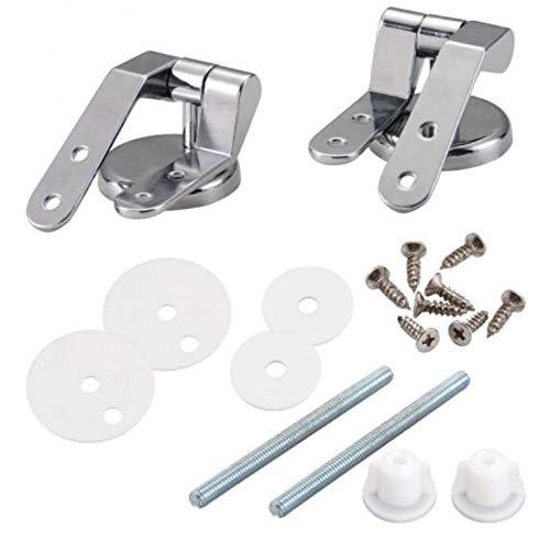 1 Paar WC Sitz Scharnier Legierung Toilette Befestigungen aus rostfreiem Zink für Ersatzteil Reparatur mit Montage Zubehör