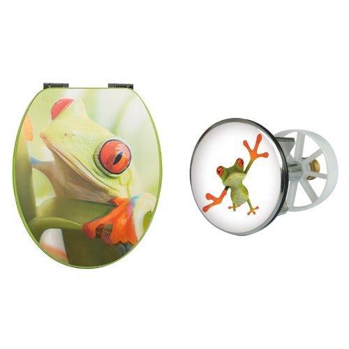 Wc-Sitz Dekor 3-D Frosch SSK + Excenterstopfen 40mm Frosch