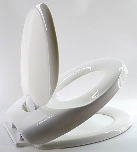 Duroplast Toilettendeckel mit Kindersitz Absenkautomatik | WC Sitz Brille Kinder | Familie Klobrille | Toilettensitz Lerntoilette