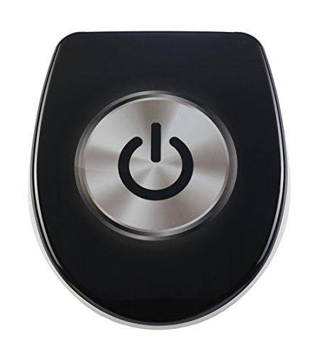 DIAQUA WC-Sitz Nice Slow-Motion, On/Off, 40,5-46 x 37,5 cm, schwarz, 31171237