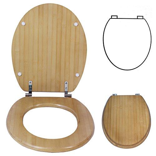 Toilettendeckel Esche Massiv WC Sitz Deckel Toilettensitz Saniscan
