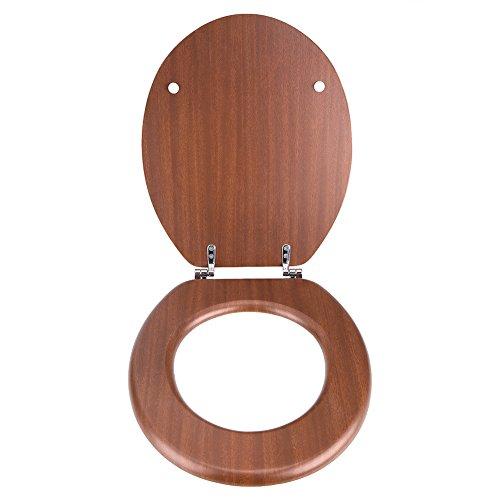 Cocoarm Klodeckel Wc Sitz Toilettendeckel Klobrille Deckel Absenkautomatik, MDF-Material,Softclose,verstellbaren Scharnieren aus Zinklegierung,Rot-Braun