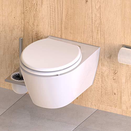 WC Sitz mit Holzkern (MDF) und Absenkautomatik, Weiß, ED09010SC