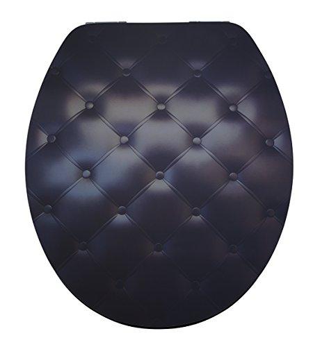 DIAQUA WC-Sitz Lyon Slow-Motion, Black sofa, MDF FSC 100%, 42-47 x 37,8 cm, schwarz, 31171503