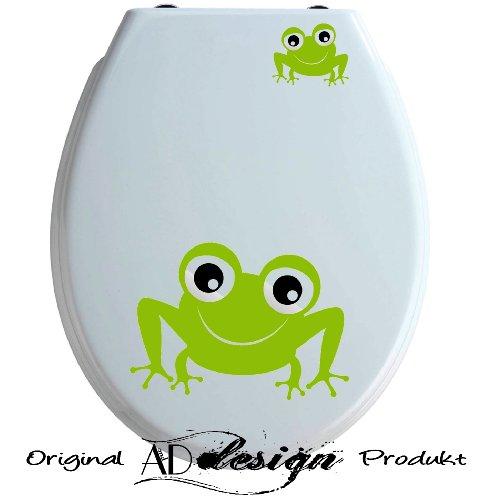 TREND DESIGN - Aufkleber für WC Toiletten Deckel ***Frosch 2er Set*** freie Farbauswahl!