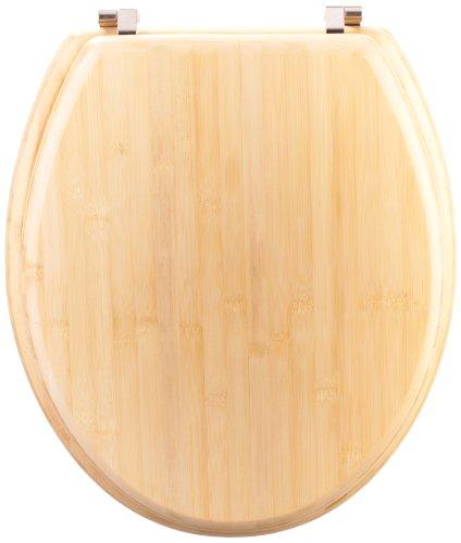 "Mebasa MYBWCSR03 WC-Sitz""Sasando"" aus Bambus inklusive Befestigungssatsz, hellbraun"