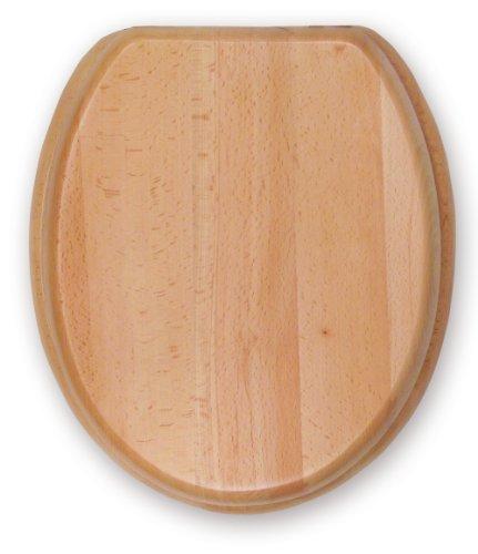 WC-Sitz Aura Buche | Toilettensitz | WC-Brille aus Holz | Messing-Scharnier