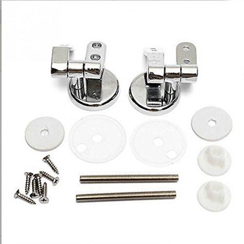 HuntGold Legierung chrom/silber universal Ersatz WC-Sitz-Scharniere mit Beschläge Set