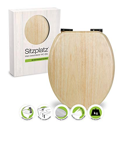 WC-Sitz Venezia mit Soft-Schließ-Komfort und Fast Fix, kiefer