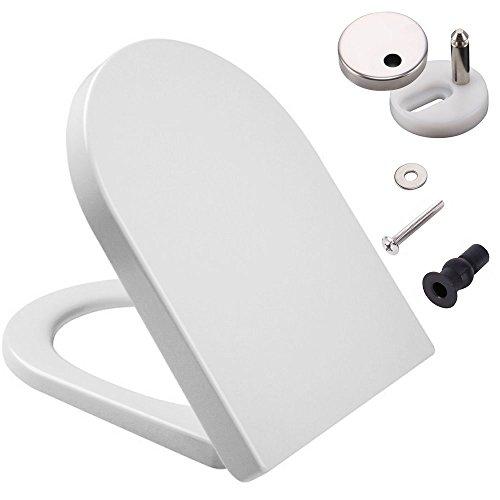 D weiß WC-Sitz mit Softclose und Quick Release Scharniere, Polypropylen (PP) Material