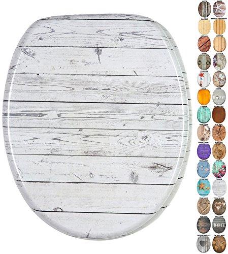 WC Sitz mit Absenkautomatik, viele schöne Holz WC Sitze zur Auswahl, hochwertige und stabile Qualität (Timber)