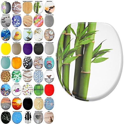 WC Sitz, viele schöne WC Sitze zur Auswahl, hochwertige und stabile Qualität aus Holz (Bambus Grün)