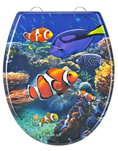 Eisl WC Sitz SEA LIFE, Duroplast, mit Absenkautomatik und Schnellverschluss, Motiv, ED69SLIFE