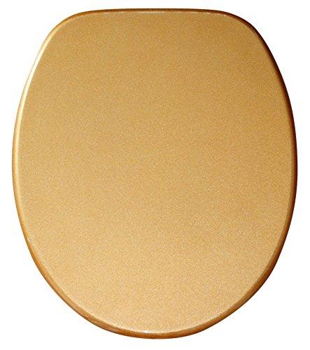 Sanilo WC Sitz mit Absenkautomatik Glitzer Gold | hochwertige Oberfläche | einfache Montage | stabile Scharniere   A642712