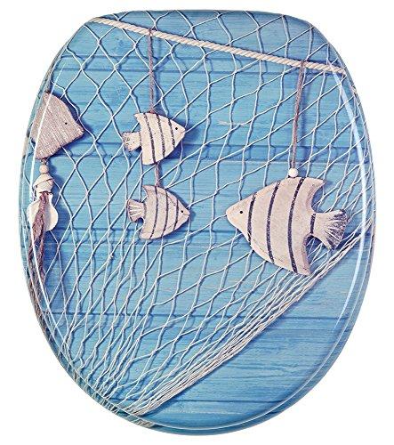 Sanilo WC Sitz mit Absenkautomatik Seefahrt | hochwertige Oberfläche | einfache Montage | stabile Scharniere   A235969
