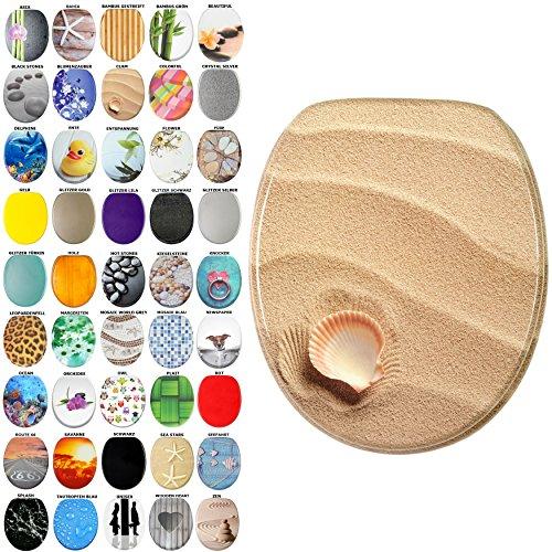 WC Sitz, viele schöne WC Sitze zur Auswahl, hochwertige und stabile Qualität aus Holz (Clam)